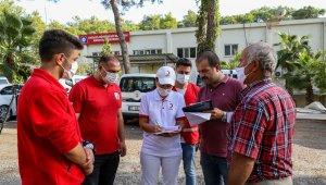 Kızılay'dan Manavgat'a küçükbaş hayvan yardımı