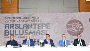 Melita'dan Malatya'ya Kültür ve Sanat Günleri Arslantepe buluşması için basın toplantısı gerçekleştirildi