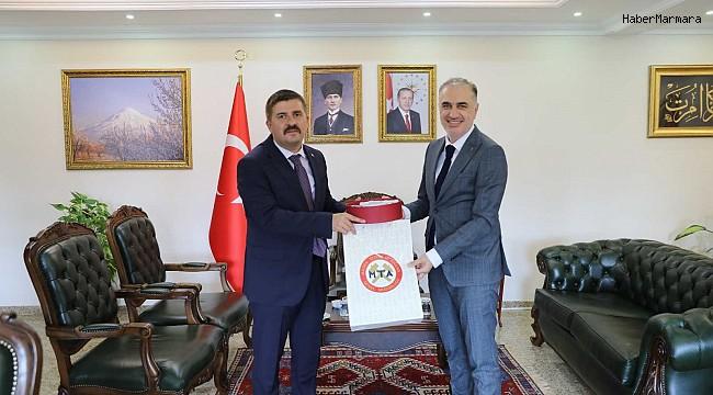 MTA Genel Müdürü Erdoğan'dan Vali Sarıibrahim'e ziyaret