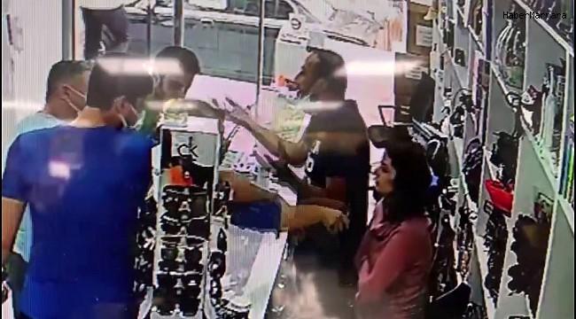 Avcılar'da kadın müşteri tezgahtarın yüzüne çay döktü