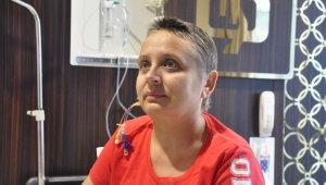 Ukraynalı Nadia Slychuk, Mersin'de sağlığına kavuştu