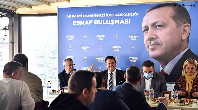 AK Parti Osmangazi, Kükürtlü esnafı ile buluştu
