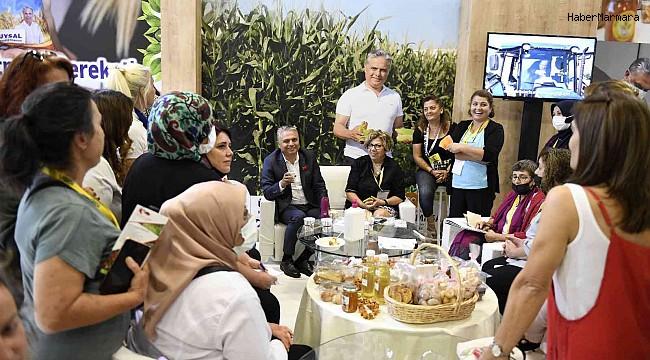 Başkan Uysal, kadın kooperatifleriyle bir araya geldi