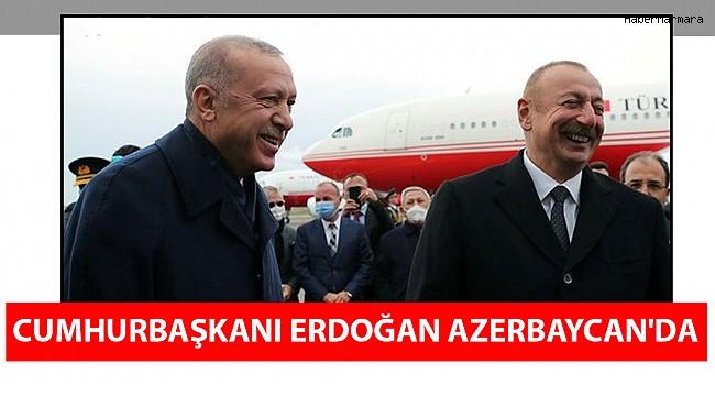 Cumhurbaşkanı Başkan Erdoğan Azerbaycan'da Resmi Törenle Karşılandı