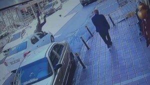 Esenyurt'ta aracın çarptığı berber metrelerce ileri fırladı