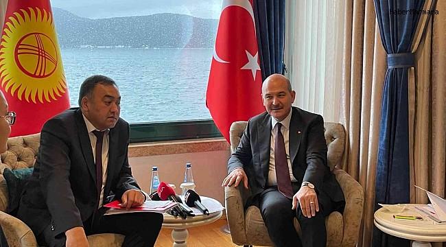 İçişleri Bakanı Soylu, Kırgız mevkidaşı Niyazbekov'la bir araya geldi