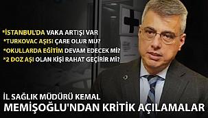 İl Sağlık Müdürü Kemal Memişoğlu'dan Kritik İstanbul Açıklaması