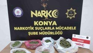 Konya'da uyuşturucu operasyonu: 3 gözaltı