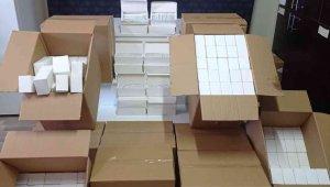 Mersin'de 100 bin adet kaçak makaron ve 6 bin adet sigara ele geçirildi