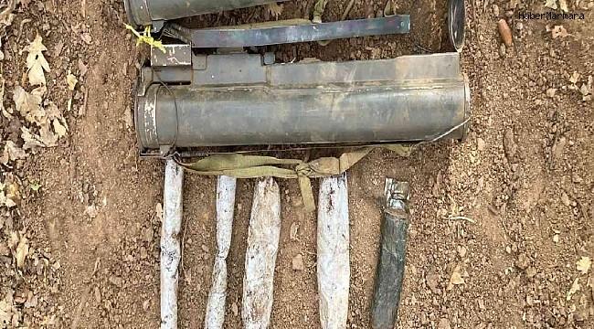 Muş'ta terör örgütü PKK'ya ait lav tanksavar silahı ve patlayıcılar ele geçirildi