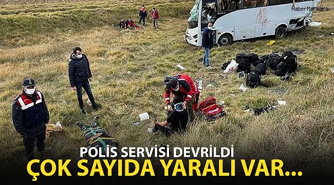 Polis Servisi Devrildi: Yaralılar Var...