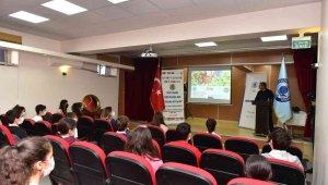 Tuzla'da ortaokul öğrencilerine organik tarım eğitimi verildi