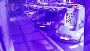 Beşiktaş'ta dehşet anları kamerada
