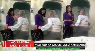 Kadıköy'de Yaşlı Kadına Bakıcı Şiddeti Kamerada !