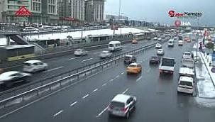İstanbul'da Trafiğinde Son Durum, Buzlanmaya Dikkat !
