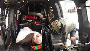 TSK, Sinop ve Kastamonu'da AS-532 tipi helikopterler ile vatandaşları kurtardı
