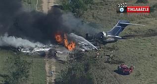 ABD'de 21 kişiyi taşıyan uçak düştü: Tüm yolcu ve mürettebat sağ kurtuldu
